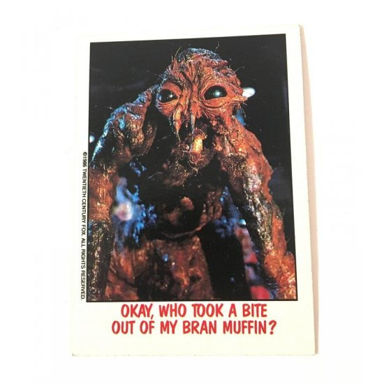 Topps Fright Flicks: The Fly (1986) 9