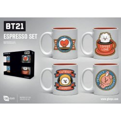 BT21 Espresso Mugs 4-Pack Icons