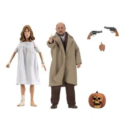 Halloween 2 Retro Action Figure 2-Pack Doctor Loomis & Laurie Strode 20 cm