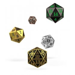 Oakie Doakie Dice D20 Spindown Dice Set Metal (5)