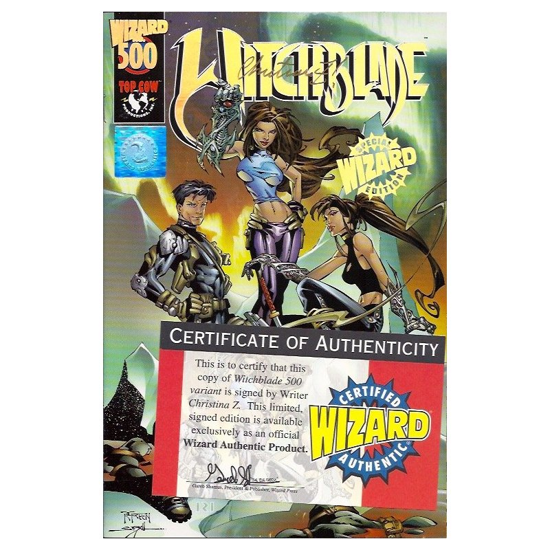 Comics - Witchblade Wizard 500 (Signed by Christina Z) -