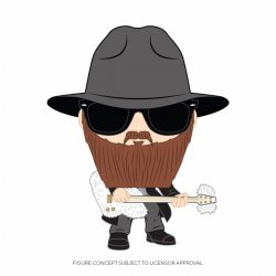 ZZ Top POP! Rocks Vinyl Figure Billy Gibbons 9 cm