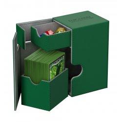 Ultimate Guard Flip´n´Tray  Deck Case 80+ Standard Size XenoSkin Green