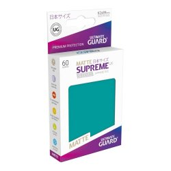 Ultimate Guard Supreme UX Sleeves Japanese Size Matte Petrol Blue (60)