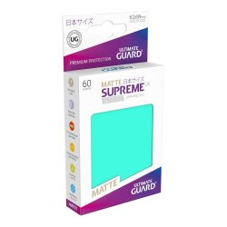 Ultimate Guard Supreme UX Sleeves Japanese Size Matte Turquoise (60)