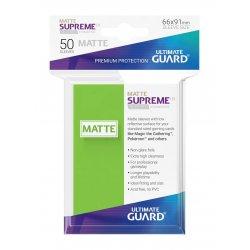 Ultimate Guard Supreme UX Sleeves Standard Size Matte Light Green (50)