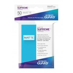 Ultimate Guard Supreme UX Sleeves Standard Size Matte Light Blue (50)