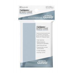 Ultimate Guard Premium Soft Sleeves for Board Game Cards 7 Wonders™ (80)