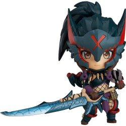 Monster Hunter World Iceborne Nendoroid Action Figure Hunter Female Nargacuga Alpha Armor Ver. 10 cm