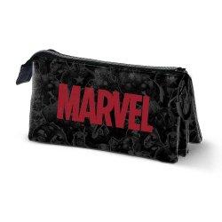 Marvel Pencil Case Marvel Logo Triple