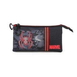 Marvel Pencil Case Spider-Man Dark Triple
