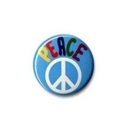 Button: Peace Symbol