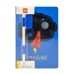 LEGO Notebook with Pen Imagine