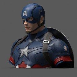 Avengers Endgame Coin Bank Captain America 20 cm
