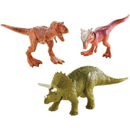 Jurassic World: Fallen Kingdom – Triceratops, T-Rex, and Stygimoloch (3-Pack Mini-Figure)