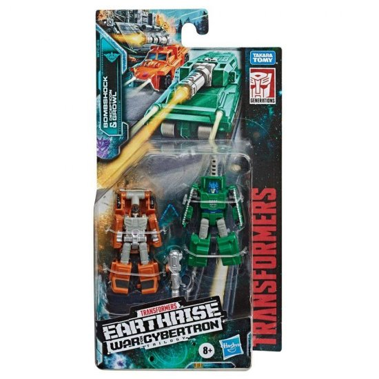 Transformers Generations War for Cybertron: Earthrise Micromasters - Bombshock & Decepticon Growl