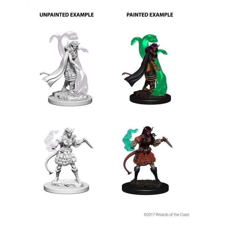 Female Tiefling Warlock 2 pk Nolzurs D/&D miniature Dungeons Dragons unpainted Z