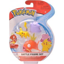 Pokémon Battle Mini Figures 3-Packs - Pikachu Ditto & Magikarp