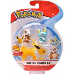 Pokémon Battle Mini Figures 3-Packs - Cubone Froakie en Jolteon