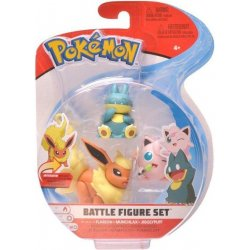 Pokémon Battle Mini Figures 3-Packs - Togedemaru Munchlax & Flareon