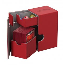 Ultimate Guard Flip´n´Tray  Deck Case 80+ Standard Size XenoSkin Red