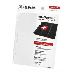 Ultimate Guard 18-Pocket Pages Side-Loading White (10)
