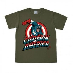Captain America - T-Shirt Easy Fit – Olive