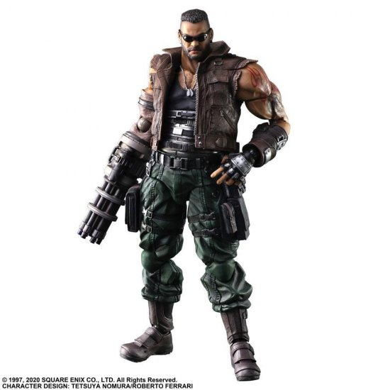 Final Fantasy VII Remake Play Arts Kai Action Figure Barret Wallace Ver. 2 28 cm
