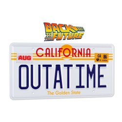 Back To The Future Replica 1/1 ´Outatime´ DeLorean License Plate
