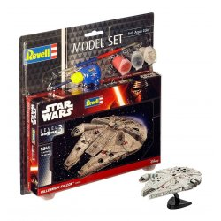 Star Wars Model Kit 1/241 Model Set Millennium Falcon 10 cm
