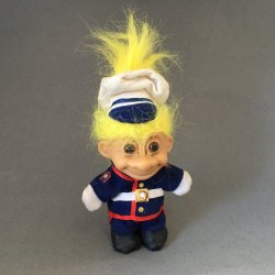 My Lucky US Marine Troll Doll