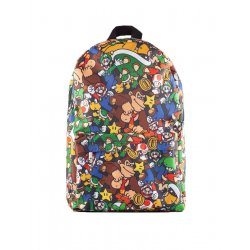 Nintendo Backpack Super Mario Characters AOP