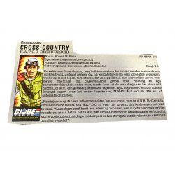 GI Joe – Cross-Country (v1) Dutch File Card