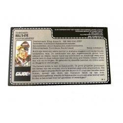 GI Joe – Bull's-Eye (v1) Bull's-Eye Dutch File Card