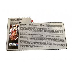 GI Joe – Budo (v1) Dutch French File Card