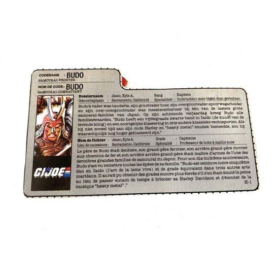 GI Joe – Budo (v1) Dutch French File Card