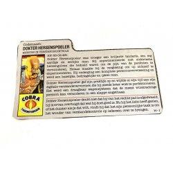 GI Joe – Dr. Mindbender (v1) Dokter Hersenspoeler Dutch File Card