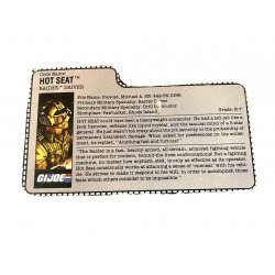 GI Joe – Hot Seat (v1) File Card