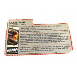 GI Joe – Deep Six (v1) S.H.A.R.C. Piloot Dutch File Card