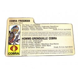 GI Joe – Eels (v1) Homme-Grenouiille Cobra French File Card
