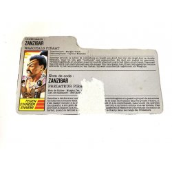 GI Joe – Zanzibar (v1) Dutch French File Card