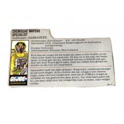 GI Joe – Airtight (v1) Gasmasker Dutch File Card
