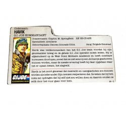 GI Joe – Hawk (v2) Havik Dutch File Card