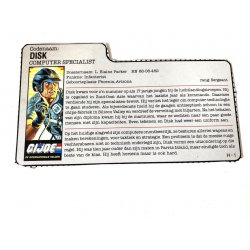 GI Joe – Mainframe (v1) Disk Dutch File Card