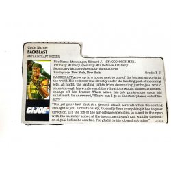 GI Joe – Backblast (v1) File Card