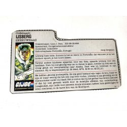 GI Joe – Iceberg (v1) IJsberg Dutch File Card