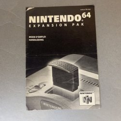 N64 - Expansion Pak Instructions (Dutch)