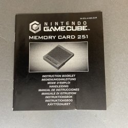 Nintendo Gamecube - Memory Card 251 Instructions (EU)