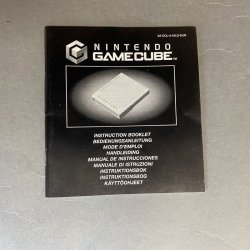 Nintendo Gamecube - Memory Card Instructions (EU)