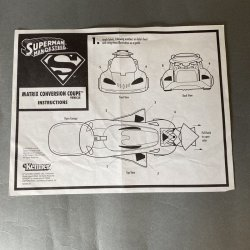 Superman Man of Steel Matrix Conversion Coupe Instructions